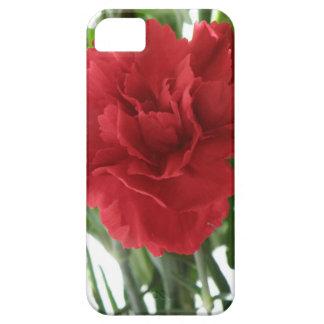 赤いカーネーションのiPhone 5の箱 iPhone 5 ベアリーゼアケース