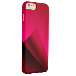赤いカールの背景 BARELY THERE iPhone 6 PLUS ケース