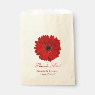 赤いガーベラのデイジーキャンデーのビュッフェの結婚式の引き出物 フェイバーバッグ