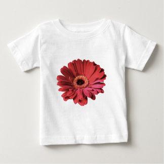 赤いガーベラのベビーのティー ベビーTシャツ