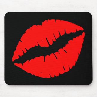 赤いキス マウスパッド