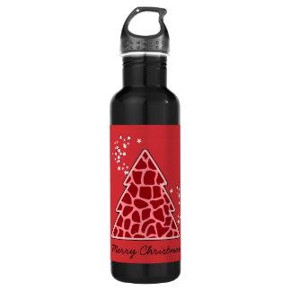 赤いキリンのクリスマスツリー ウォーターボトル