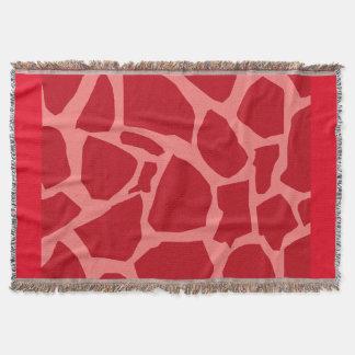 赤いキリンの質のブランケット スローブランケット