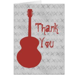 赤いギターのグランジなサンキューカード カード