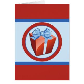 赤いギフト用の箱一流カード カード