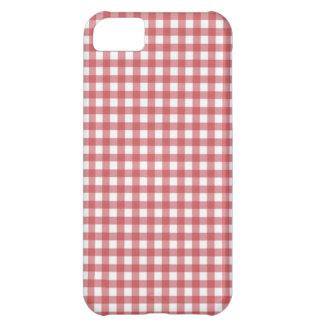 赤いギンガムのエレガントな蝶 iPhone5Cケース