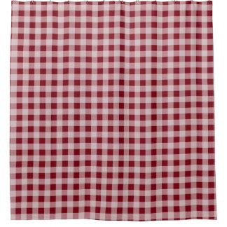 赤いギンガムの国の素朴な浴室のシャワー・カーテン シャワーカーテン