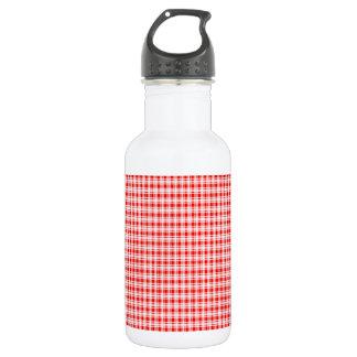 赤いギンガムの格子縞 ウォーターボトル