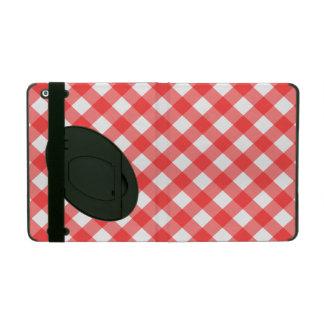 赤いギンガムのiPadのフォリオの箱 iPad ケース