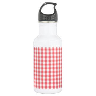 赤いギンガムパターン ウォーターボトル