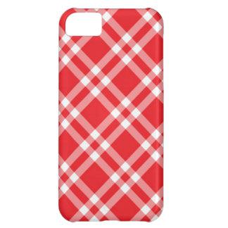 赤いギンガムパターン iPhone5Cケース
