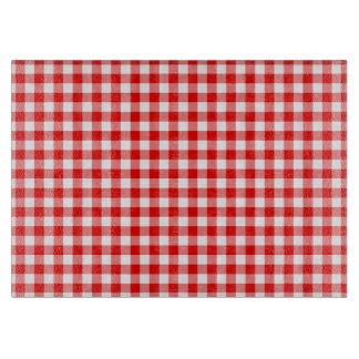 赤いギンガム カッティングボード