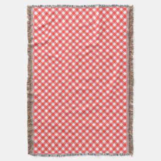 赤いギンガム スローブランケット