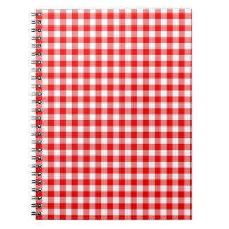 赤いギンガム ノートブック
