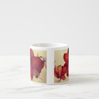 赤いクリスマスのアマリリスのエスプレッソのマグ エスプレッソカップ