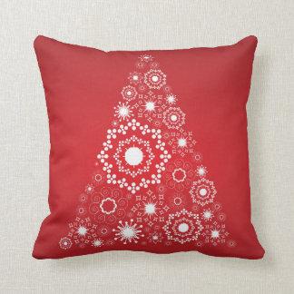赤いクリスマスの休日の枕 クッション