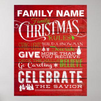 赤いクリスマスの家の規則 プリント