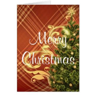 赤いクリスマスの挨拶状 カード