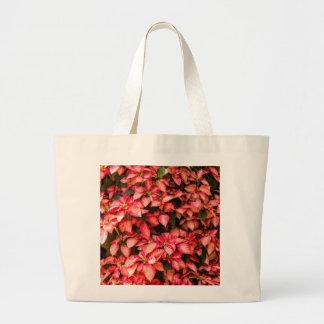 """赤いクリスマスの花""""ポインセチア"""" ラージトートバッグ"""