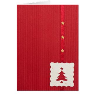 赤いクリスマスカード カード