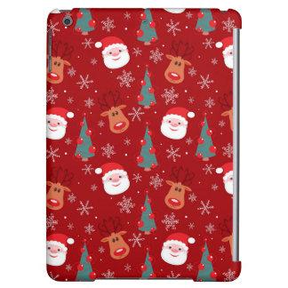 赤いクリスマスパターン iPad AIRケース