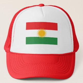 赤いクルジスタンの旗 キャップ