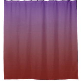 赤いグラデーション勾配のあなたの色は衰退します シャワーカーテン
