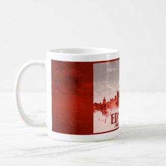 赤いグランジのエドモントンのスカイライン コーヒーマグカップ