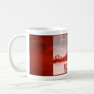 赤いグランジのトロントのスカイライン コーヒーマグカップ