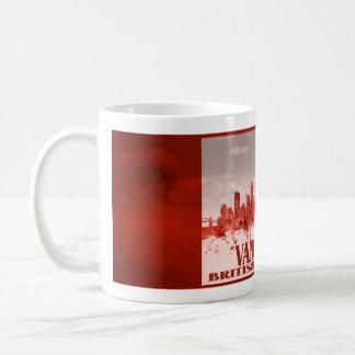 赤いグランジのバンクーバーのスカイライン コーヒーマグカップ