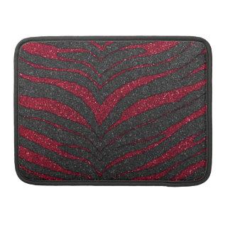 赤いグリッターのシマウマのプリント MacBook PROスリーブ