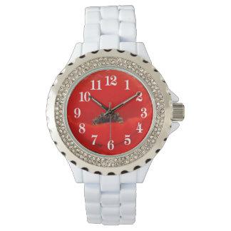 赤いケシおよび意味 腕時計