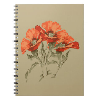 赤いケシのノート ノートブック