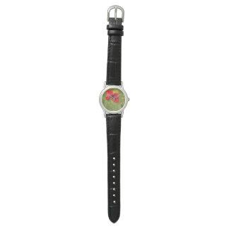 赤いケシの腕時計 腕時計