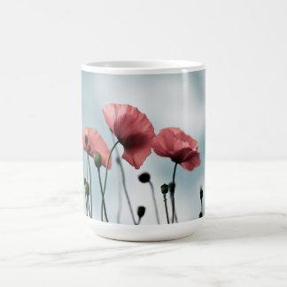赤いケシの花 コーヒーマグカップ