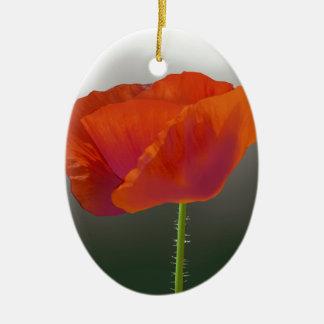 赤いケシの花 セラミックオーナメント