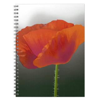 赤いケシの花 ノートブック
