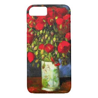 赤いケシのiPhone 7の箱が付いているゴッホのつぼ iPhone 8/7ケース