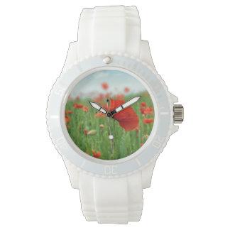 赤いケシ分野 腕時計