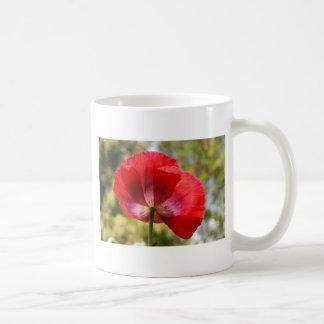 赤いケシ コーヒーマグカップ