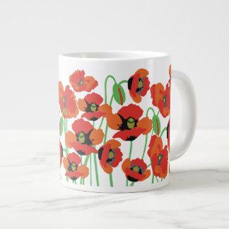 赤いケシ ジャンボコーヒーマグカップ