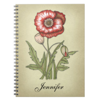 赤いケシ ノートブック