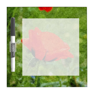 赤いケシ ホワイトボード