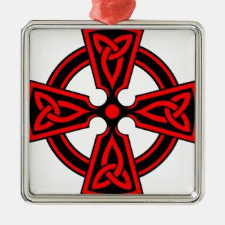 赤いケルト十字のサクソンのバイキングのwiccaの異教徒 メタルオーナメント