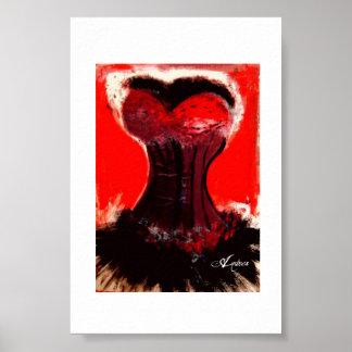 赤いコルセットポスター ポスター