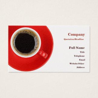 赤いコーヒーカップが付いている名刺 名刺