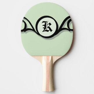 赤いゴム背部IRONWORK SCROLLWORK 1 卓球ラケット