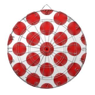 赤いゴルフ・ボールパターン ダーツボード