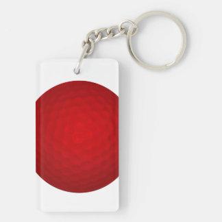 赤いゴルフ・ボール キーホルダー