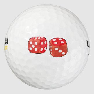 赤いサイコロ ゴルフボール